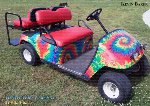 Golfcar wrap 414 tie dye fever 4