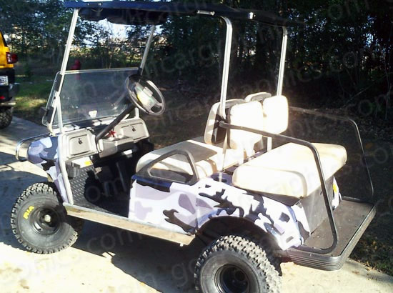 Lightning Green | Golfcargraphics.com on beach buggy cart, grey fifth wheel, car cart,