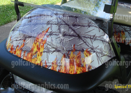 Flaming Barbed Wire Golfcargraphics Com