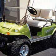 Silver Metallic Raptor golf cart decal